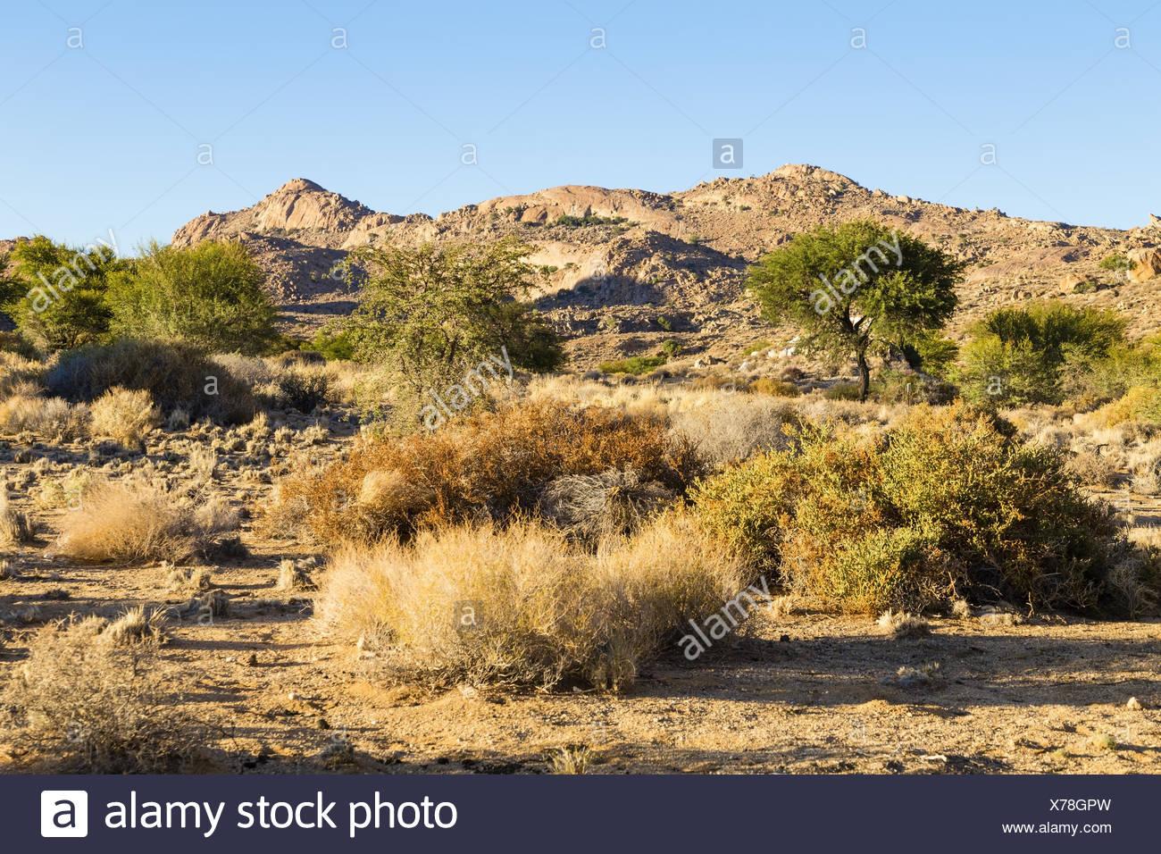 Aus mountains in Namibia - Stock Image