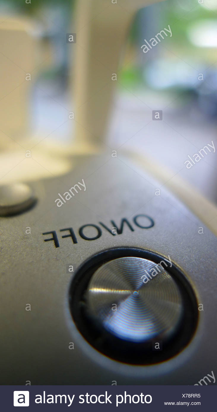 on-off-switch of an electric appliance - Stock Image