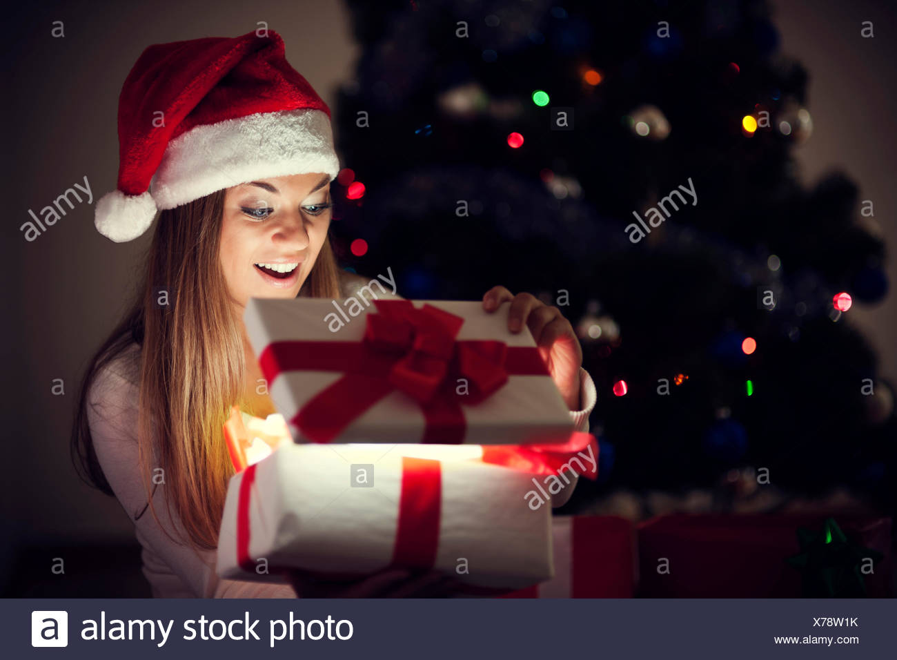 Beautiful woman with magic gift, Debica, Poland - Stock Image