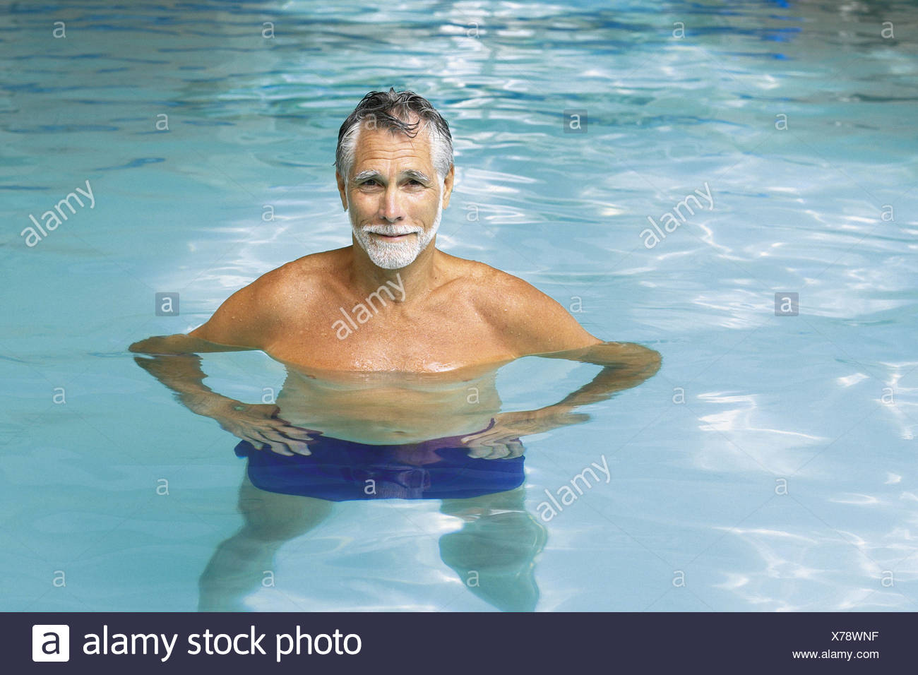 19cb916909 Old Man In Swimming Trunks Stock Photos & Old Man In Swimming Trunks ...