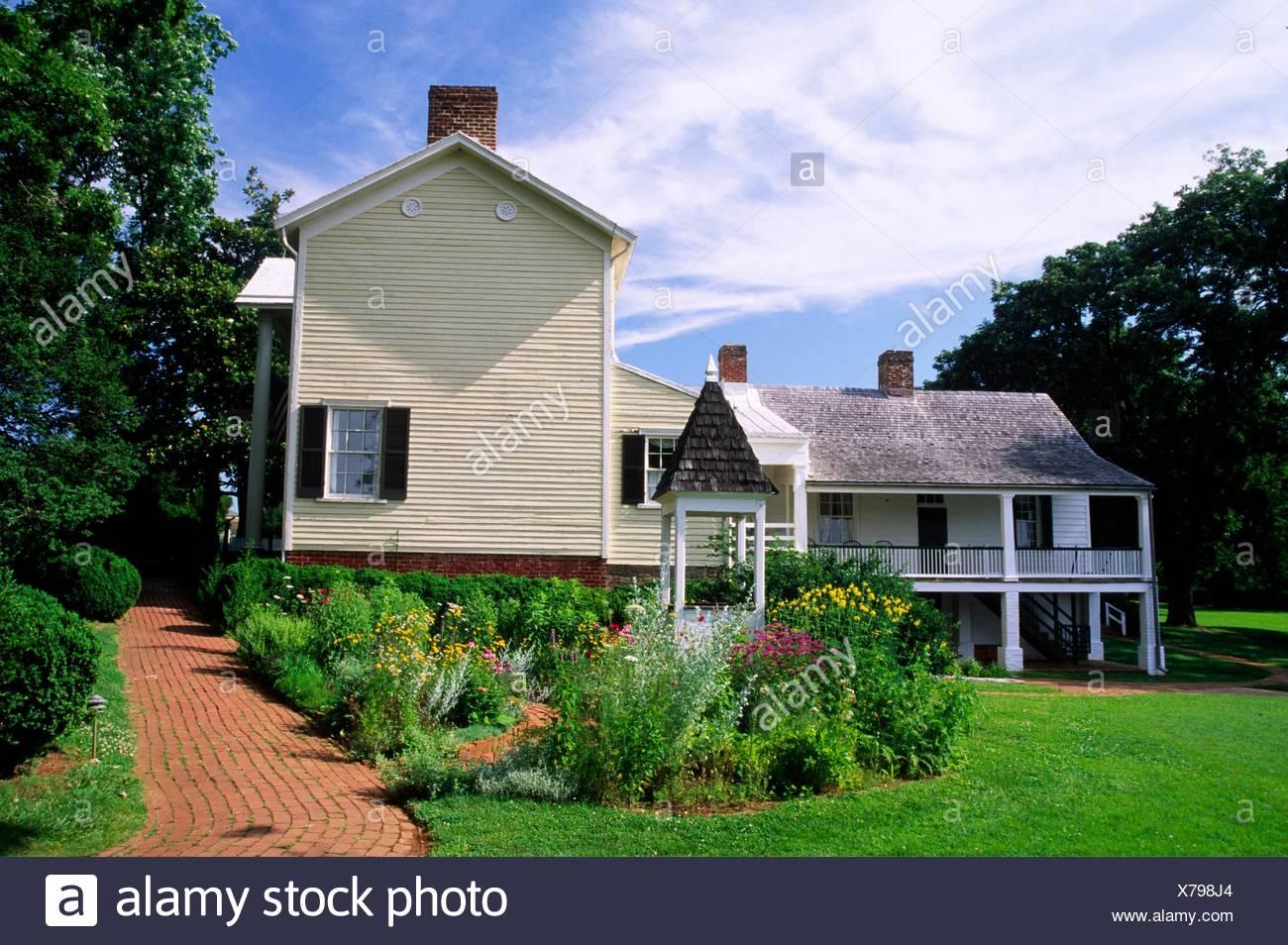 Estate house, Ash Lawn-Highland (Monroe estate), Virginia. - Stock Image