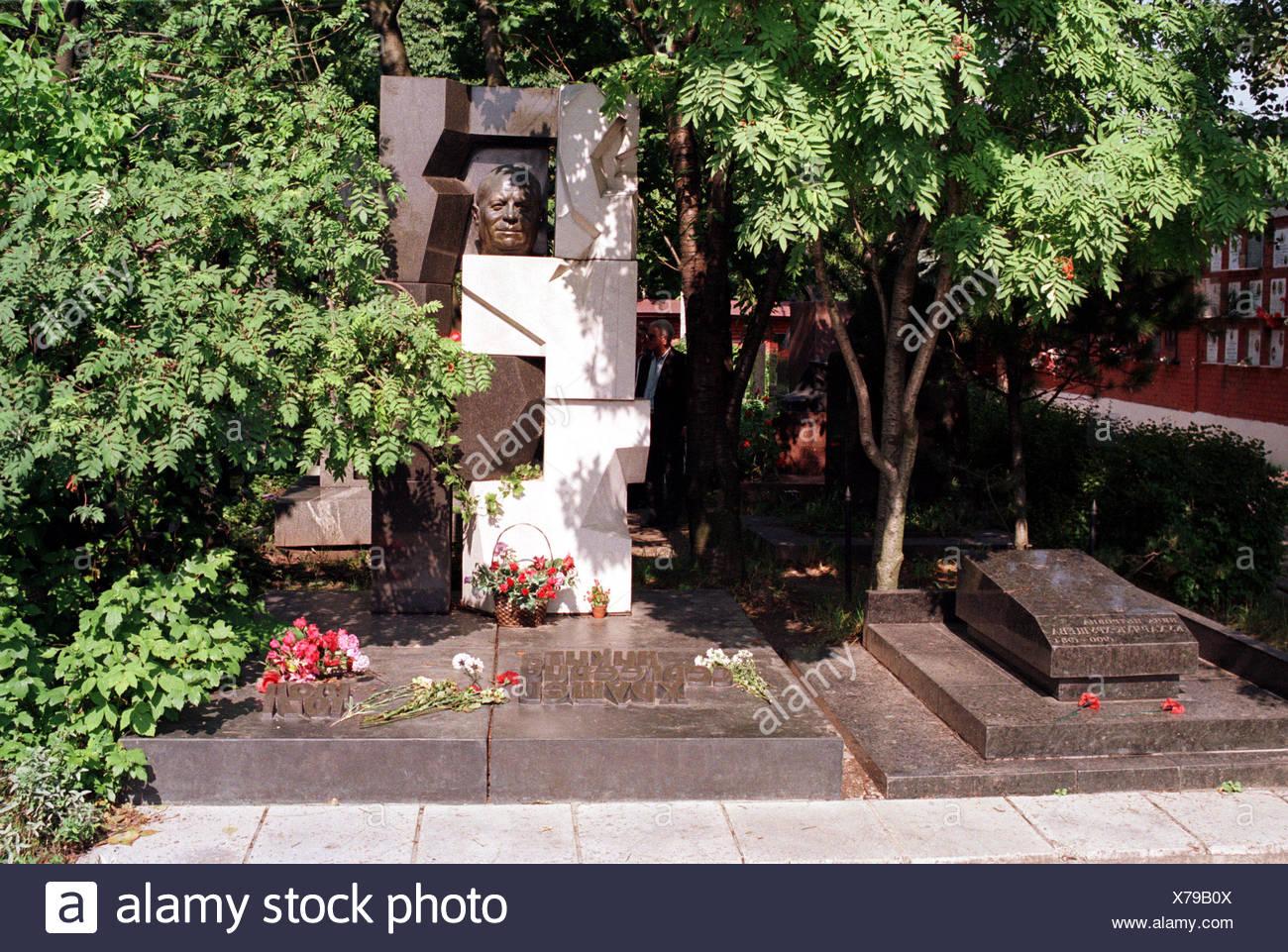 Moscow, tomb of Nikita Khrushchev - Stock Image
