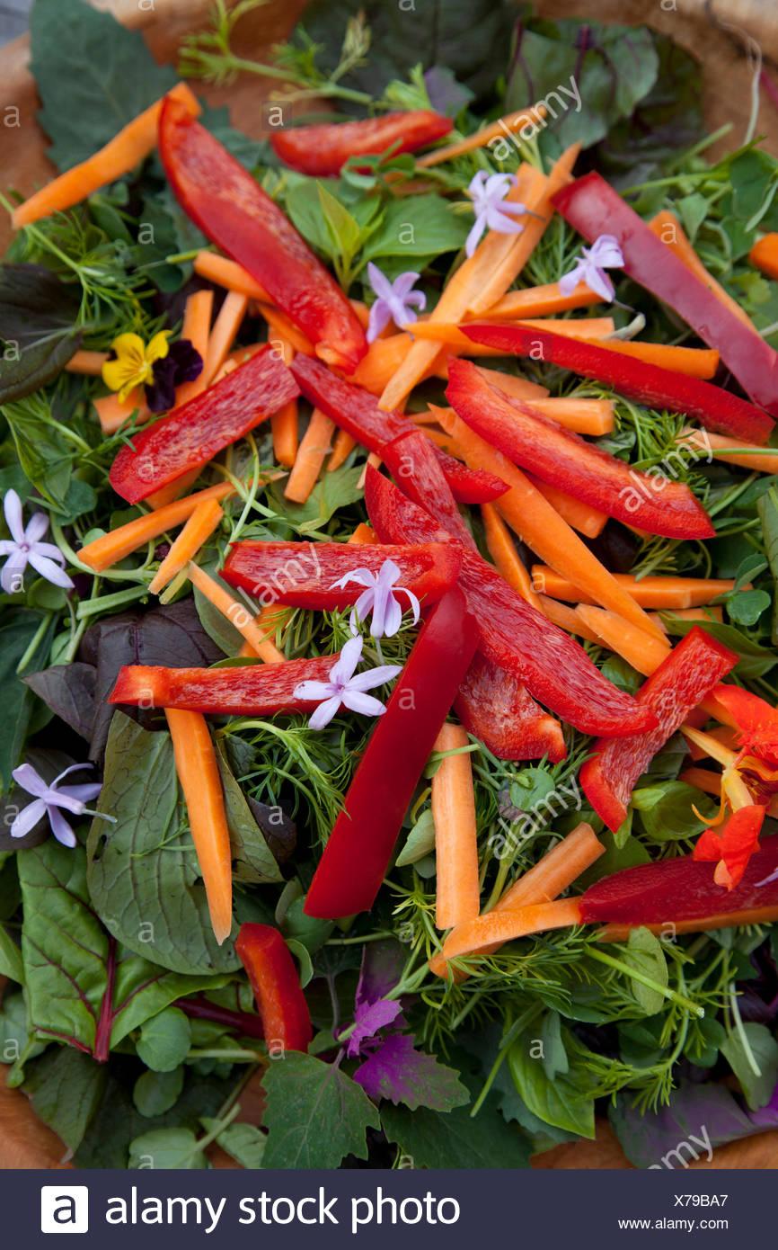 Salad, detail, fresh, Healthy - Stock Image