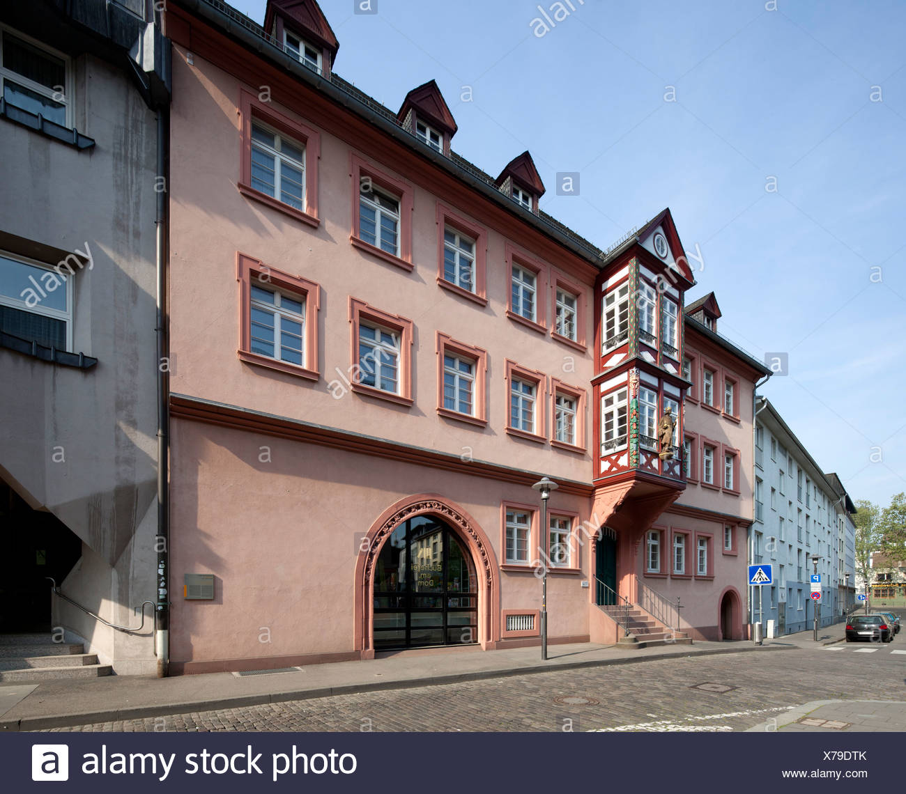 Former Erbacher Hof, library of the diocese of Mainz, cathedral library, Mainz, Rhineland-Palatinate, PublicGround - Stock Image