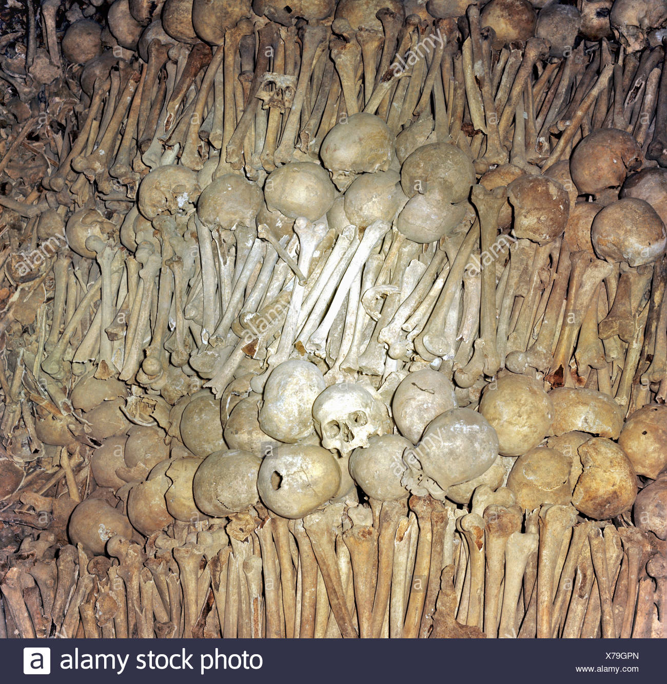 Ossuary or charnel house, St. Michael's Church, Schwaebisch Hall, Baden-Wuerttemberg, Germany - Stock Image