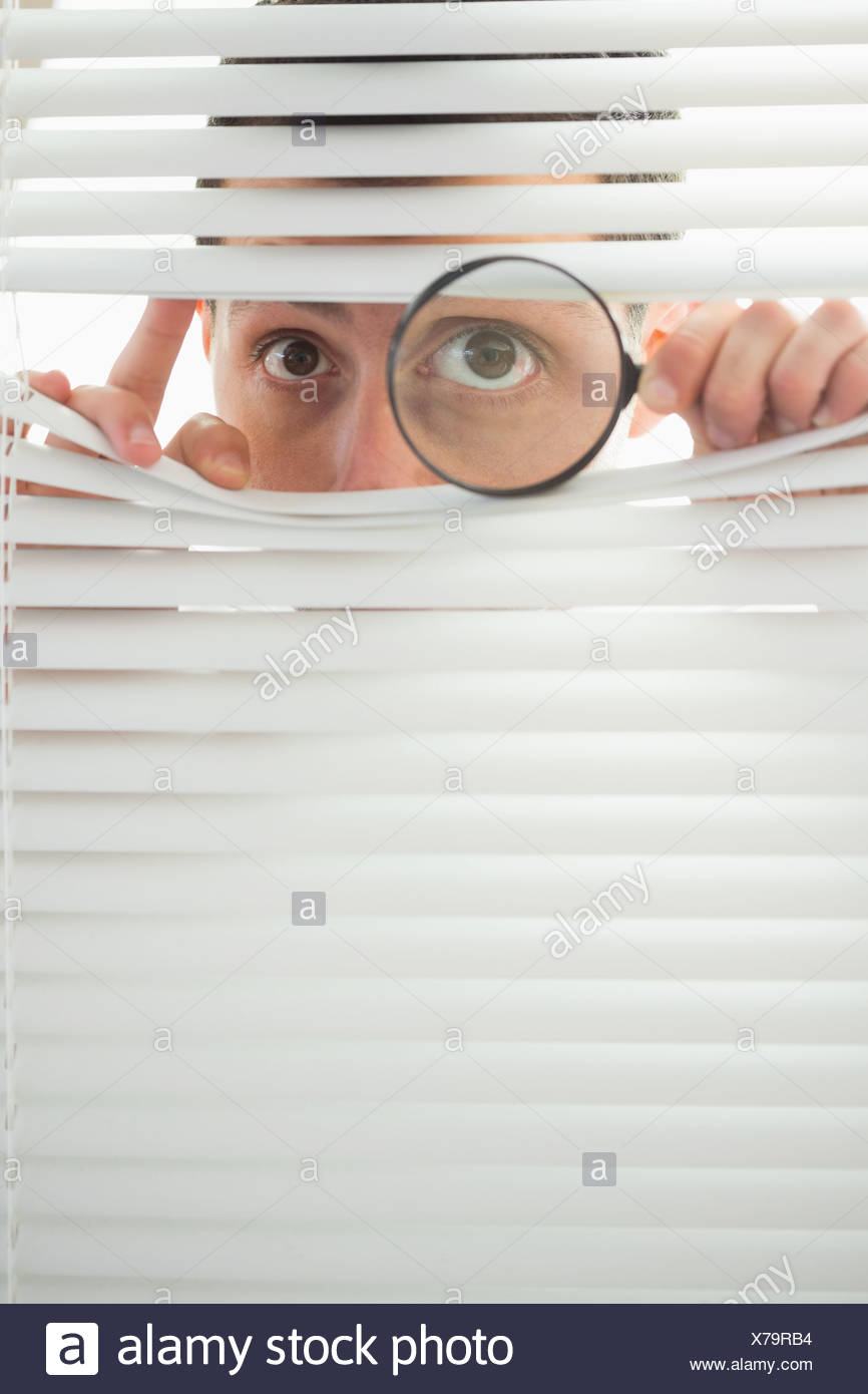 Spying on redhead through window would