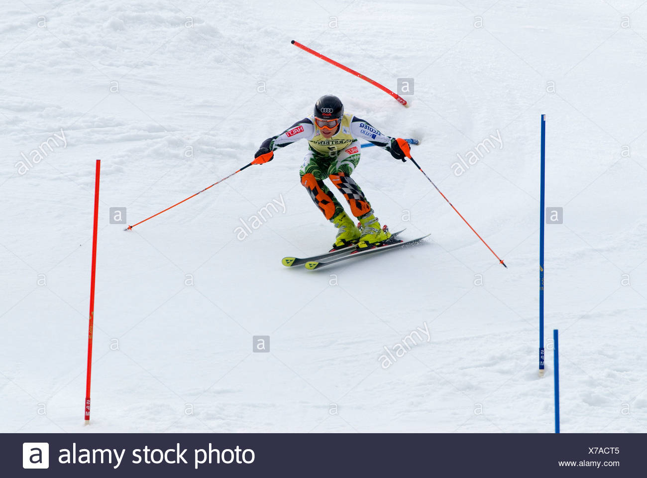 Kalle Palander, Finland, FIS Ski Worldcup, Slalom men, Kandahar race, Garmisch-Partenkirchen, Bavaria, Germany Stock Photo