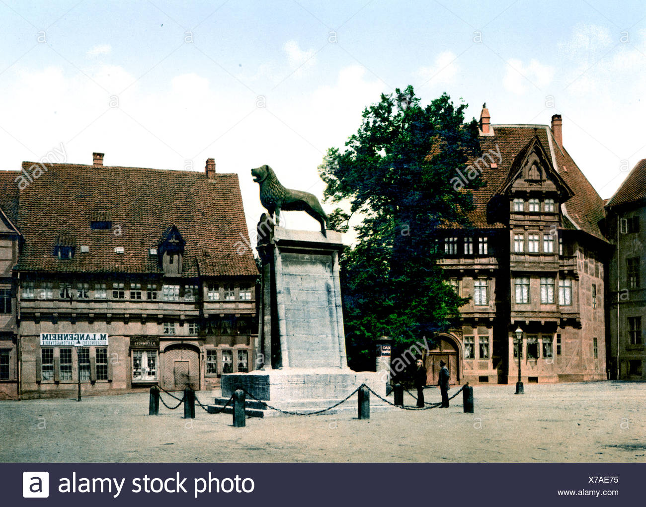 Löwensäule Braunschweig - Stock Image