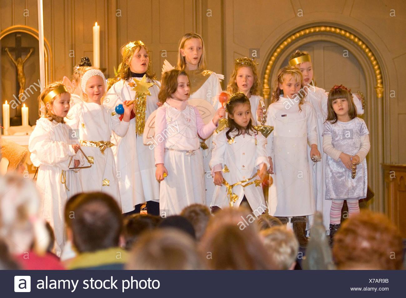 Choir of angles - Stock Image