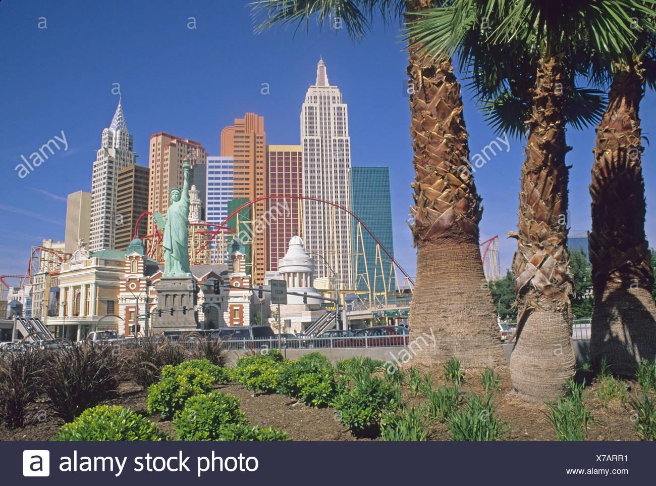 New York New York Hotel Casino Las Vegas Nevada - Stock Image