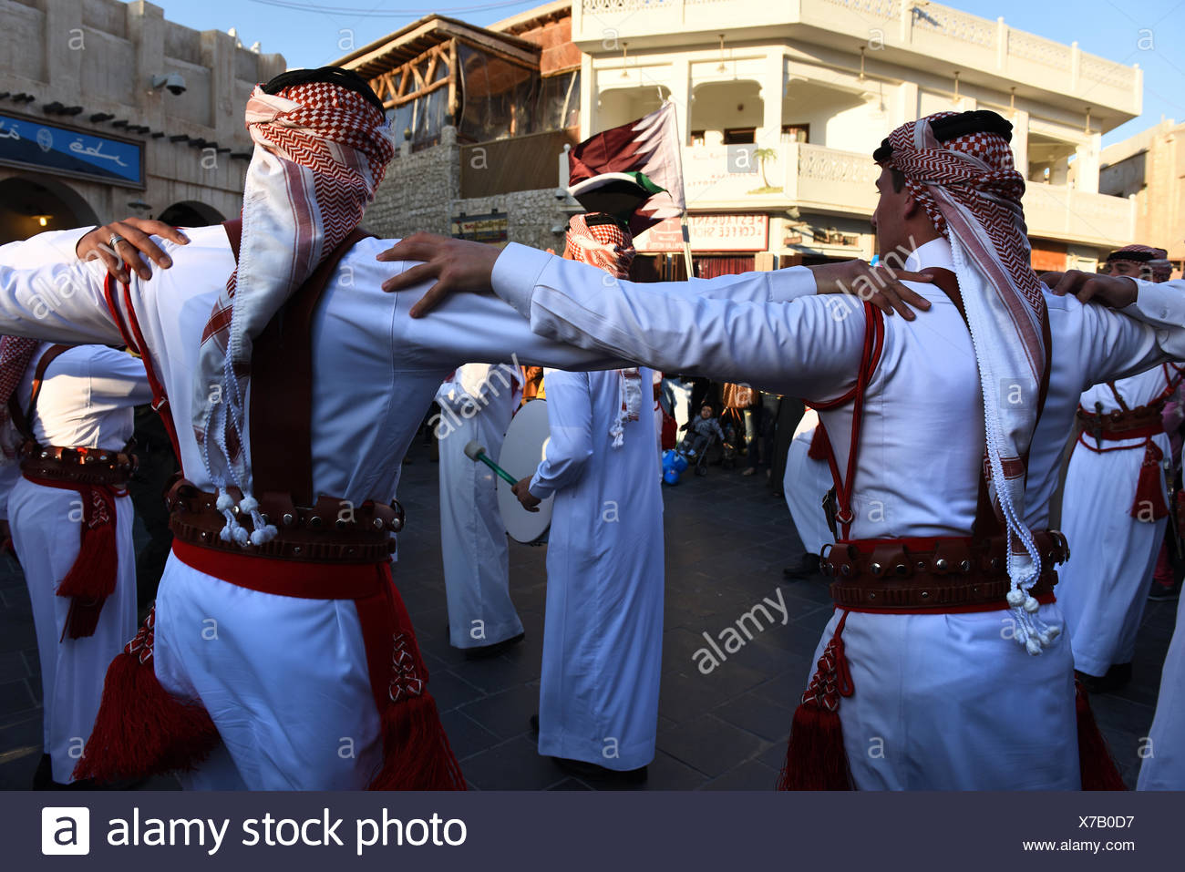 Traditional band from Jordan performing at winter festival in Souq