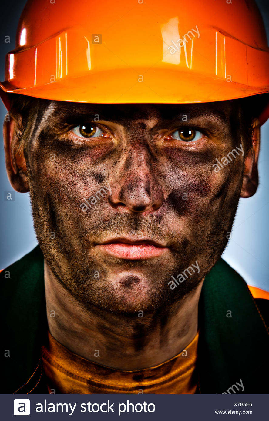 portrait oil industry worker - Stock Image