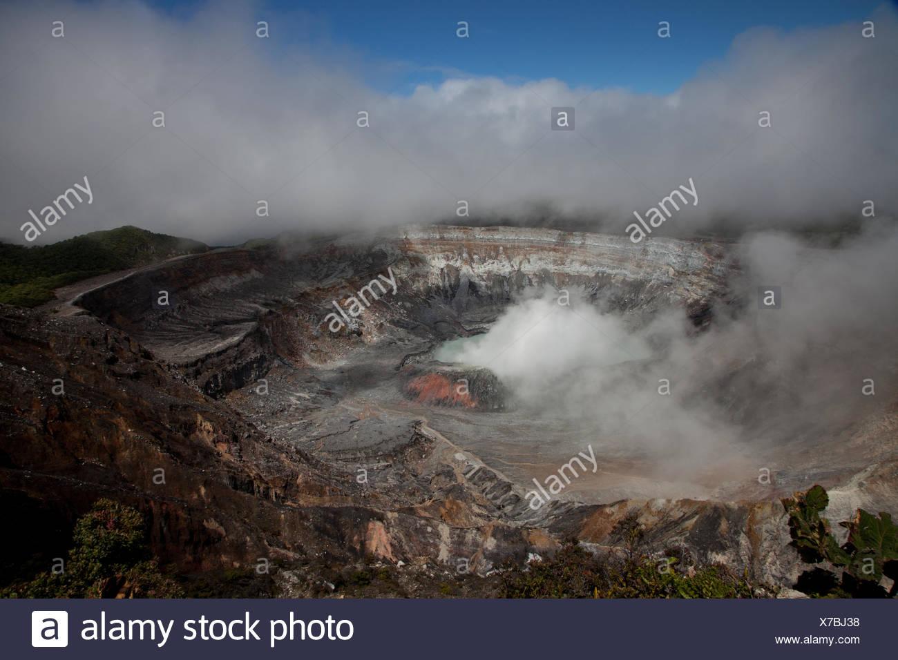 Vulcano Poas close to San José - Stock Image