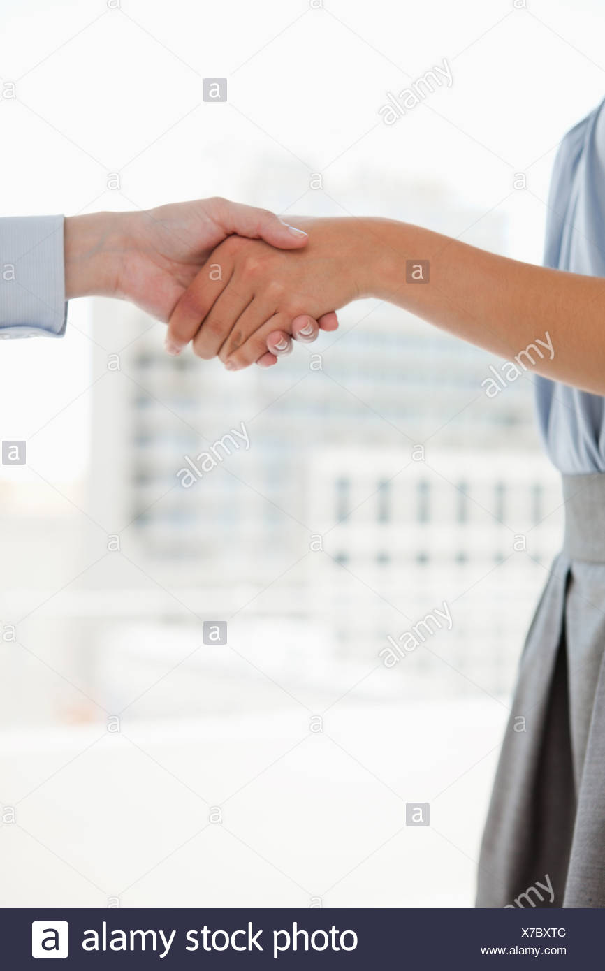 Two hands shaking in an office Stock Photo: 279931020 - Alamy