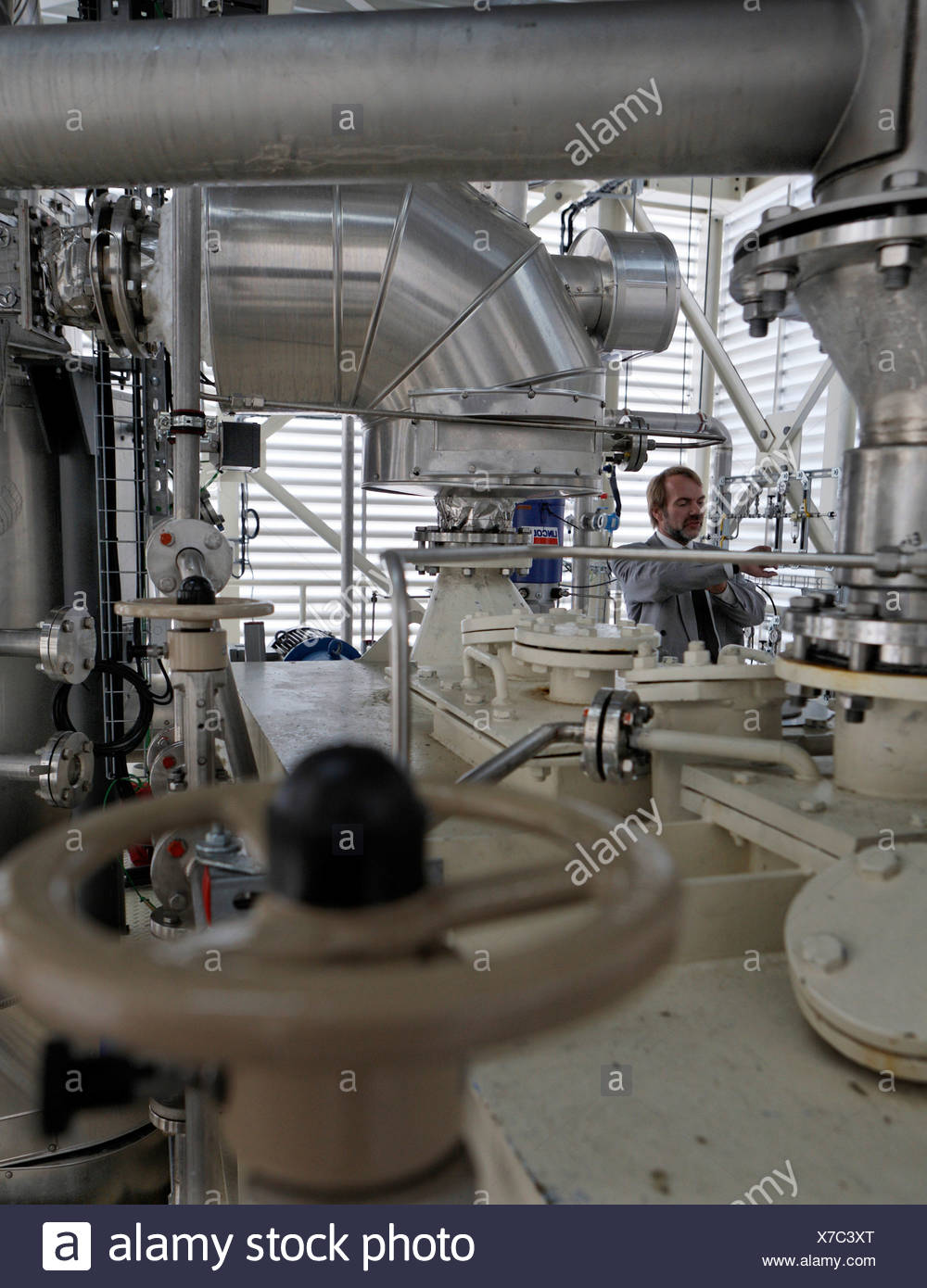 'bioliq' (biomass to liquid) process for the production of synthesis gas from biomass, Forschungszentrum Karlruhe (Karlsruhe Re - Stock Image
