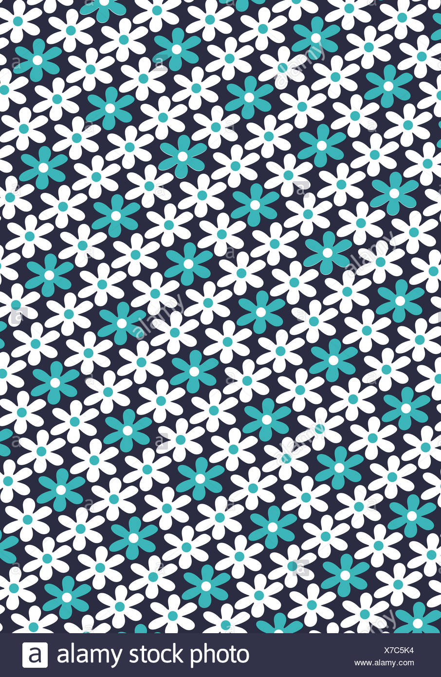 abstract flower pattern - Stock Image