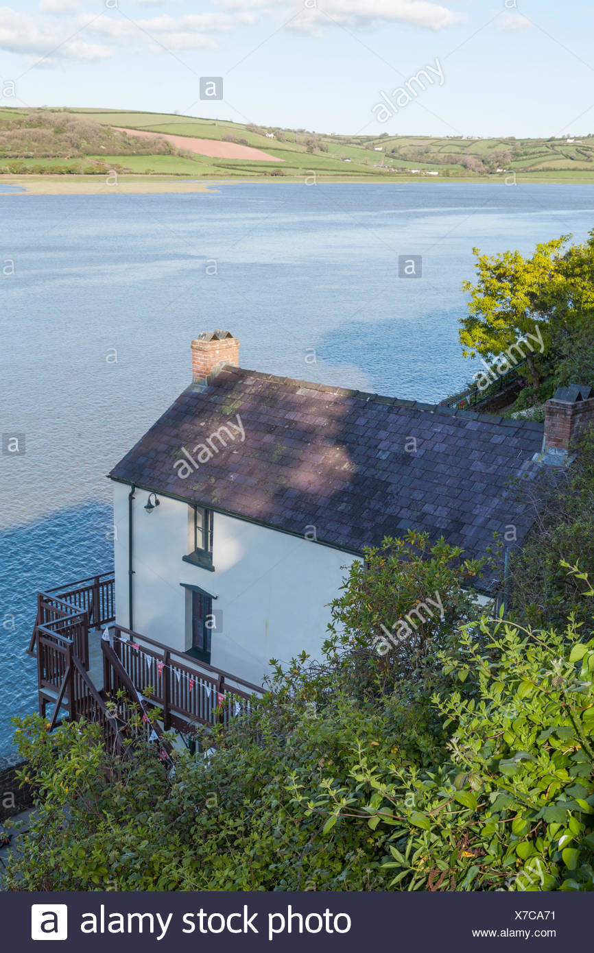 Wales, Carmarthenshire, Laugharne, Dylan Thomas House - Stock Image