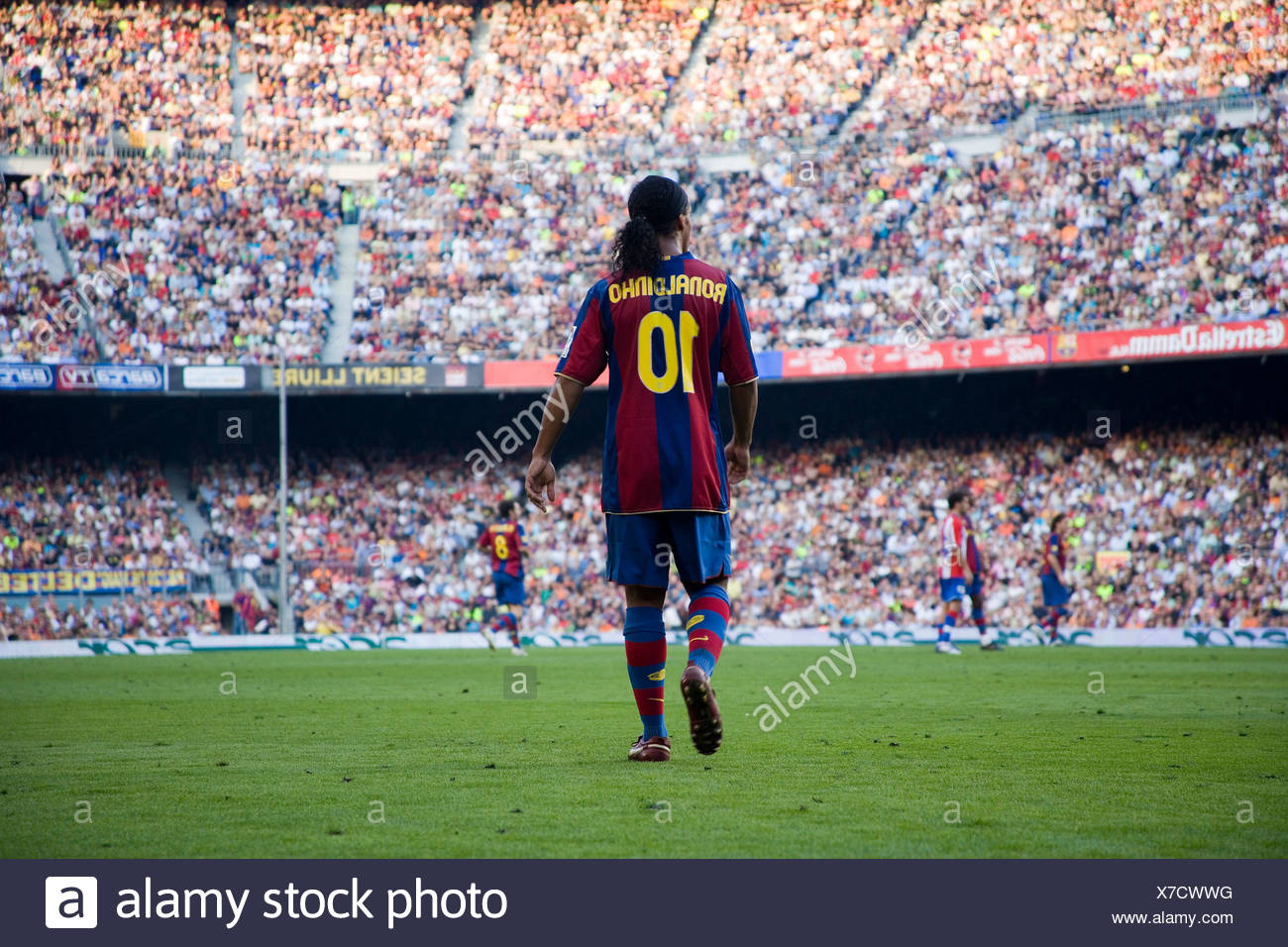 Ronaldinho, Camp Nou, Barcelona Football Club stadium, Barcelona, Catalonia, Spain, Europe - Stock Image