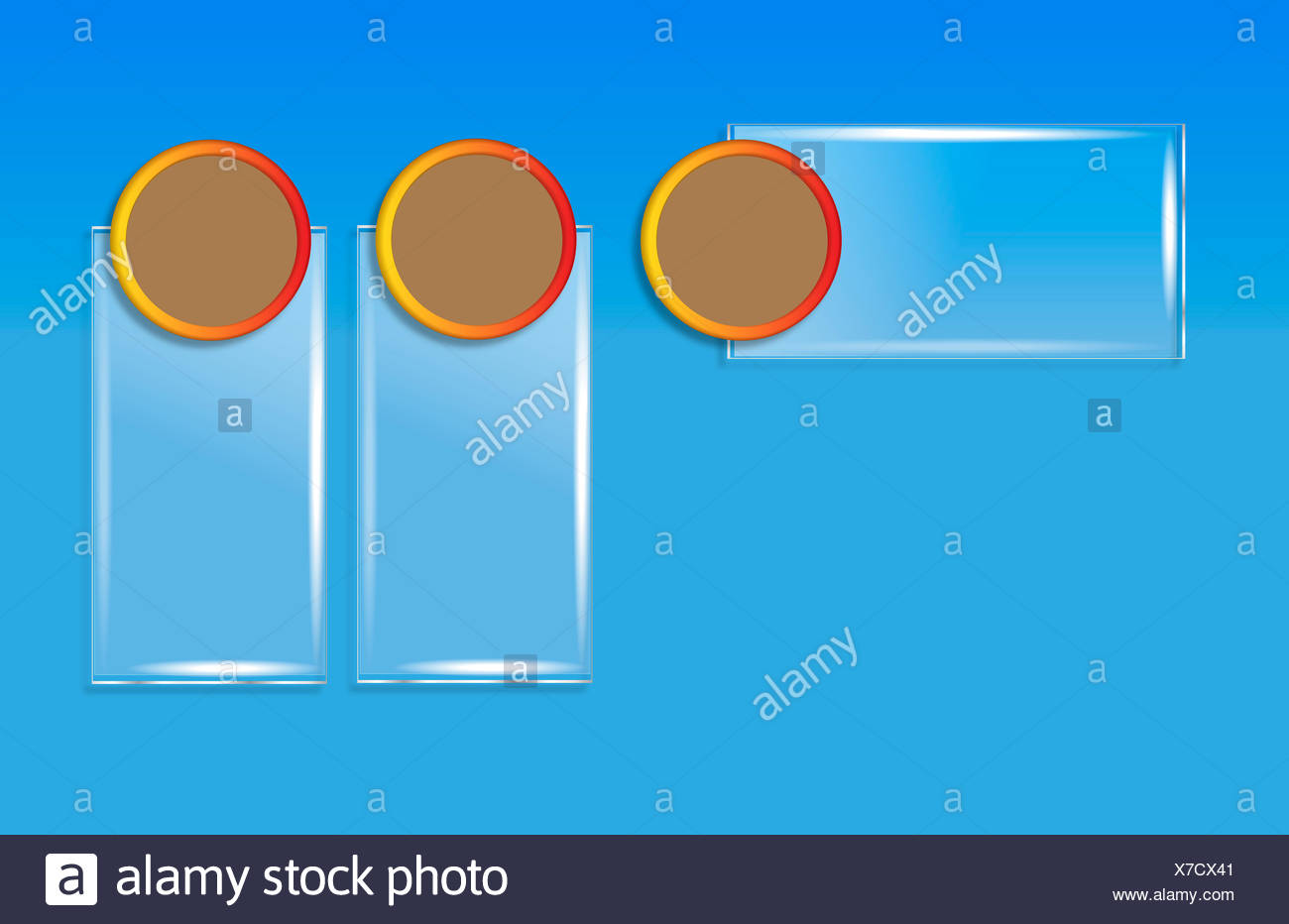 blue ring - Stock Image