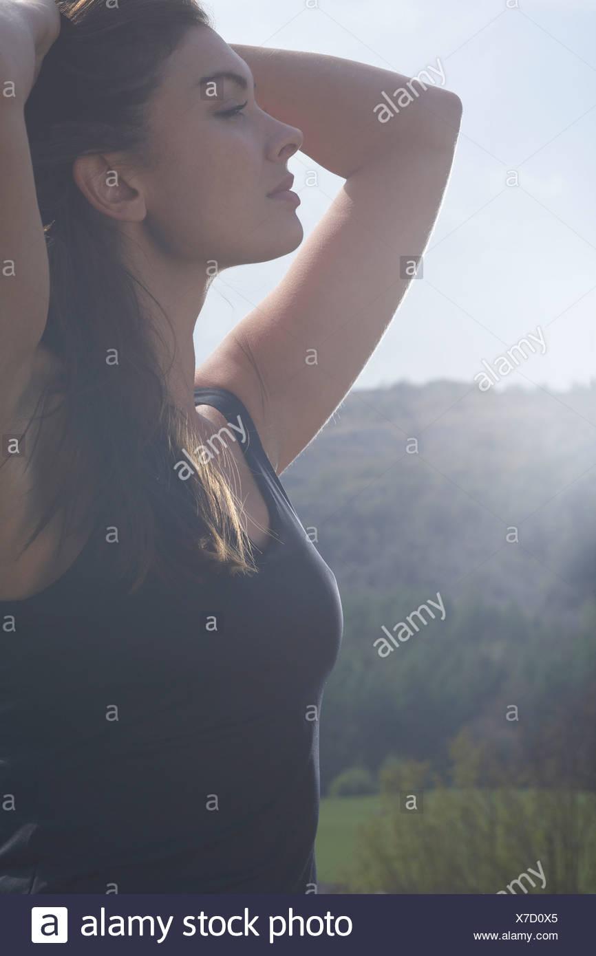 Active Girl - Stock Image