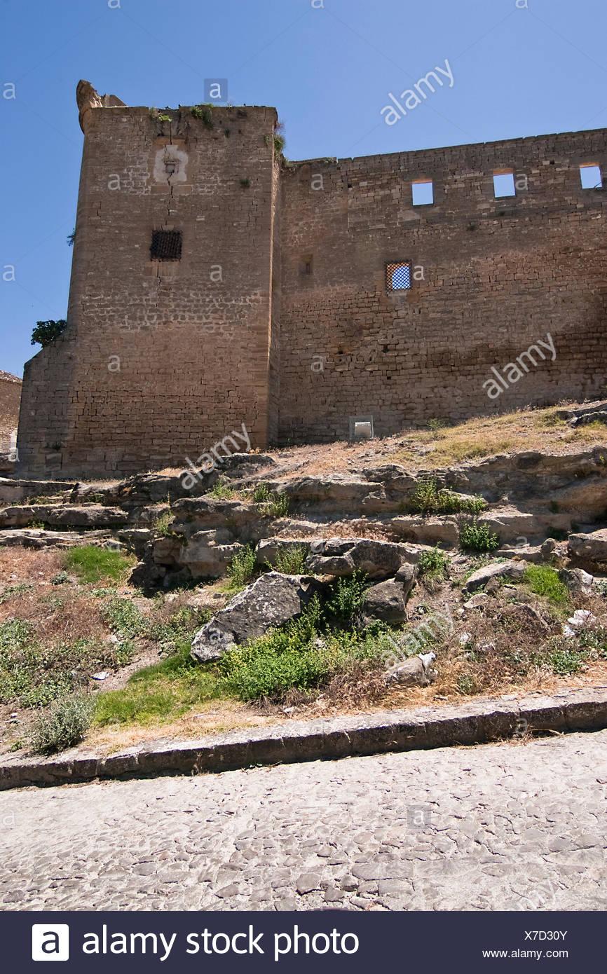Tower of stone, Sabiote, Jaen, Spain - Stock Image