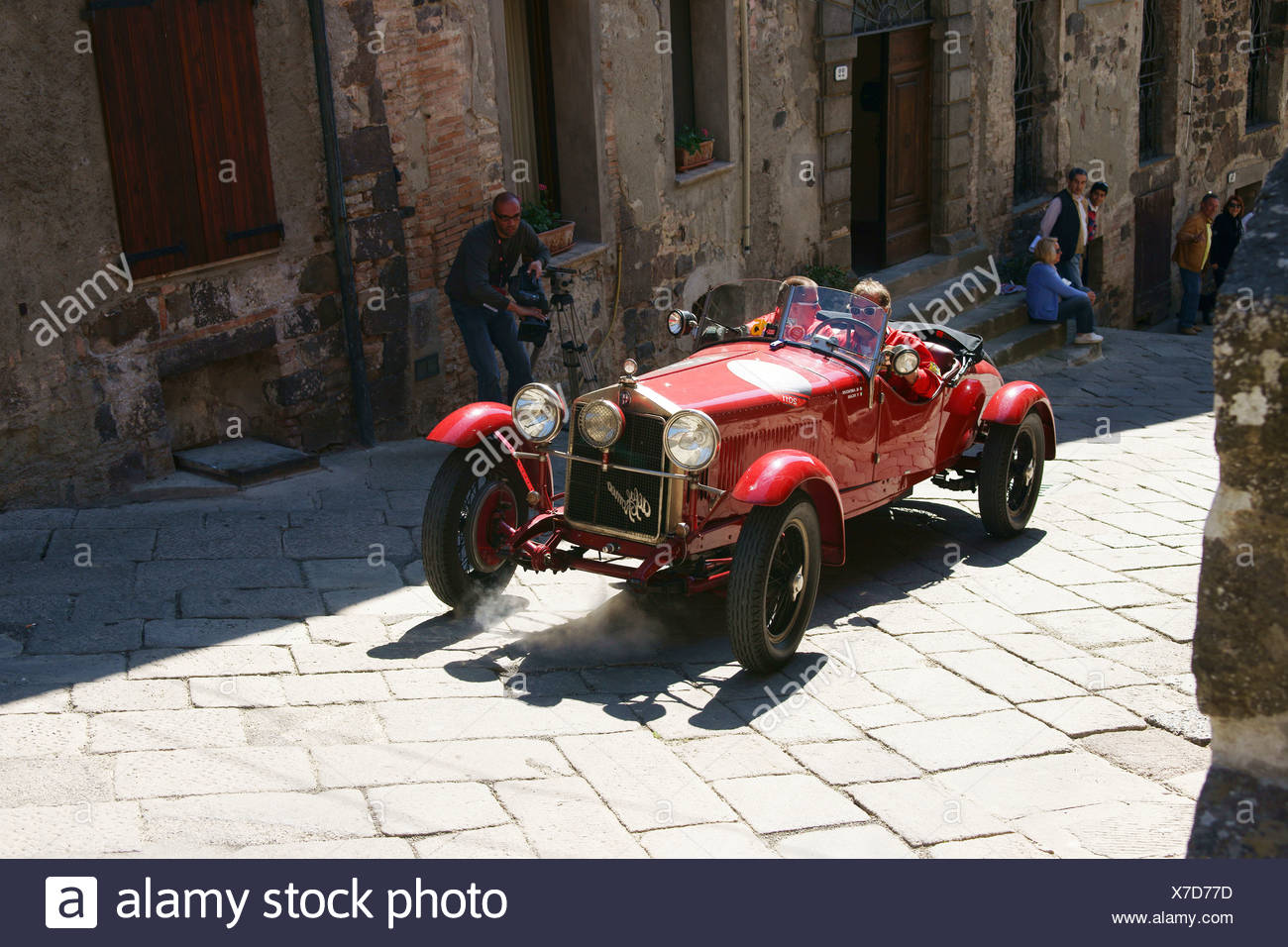 Alfa Romeo, Vintage Car Race Mille Miglia Or 1000 Miglia, Radicofani,  Tuscany,