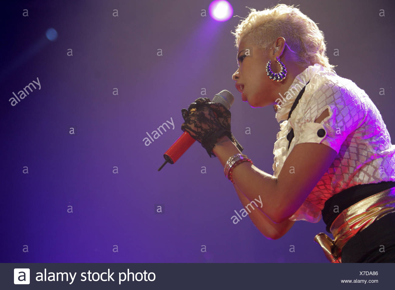 Kelis Rogers, US hip-hop and R&B singer, live at Energy Stars For Free in the Zurich Hallenstadion, Switzerland - Stock Image