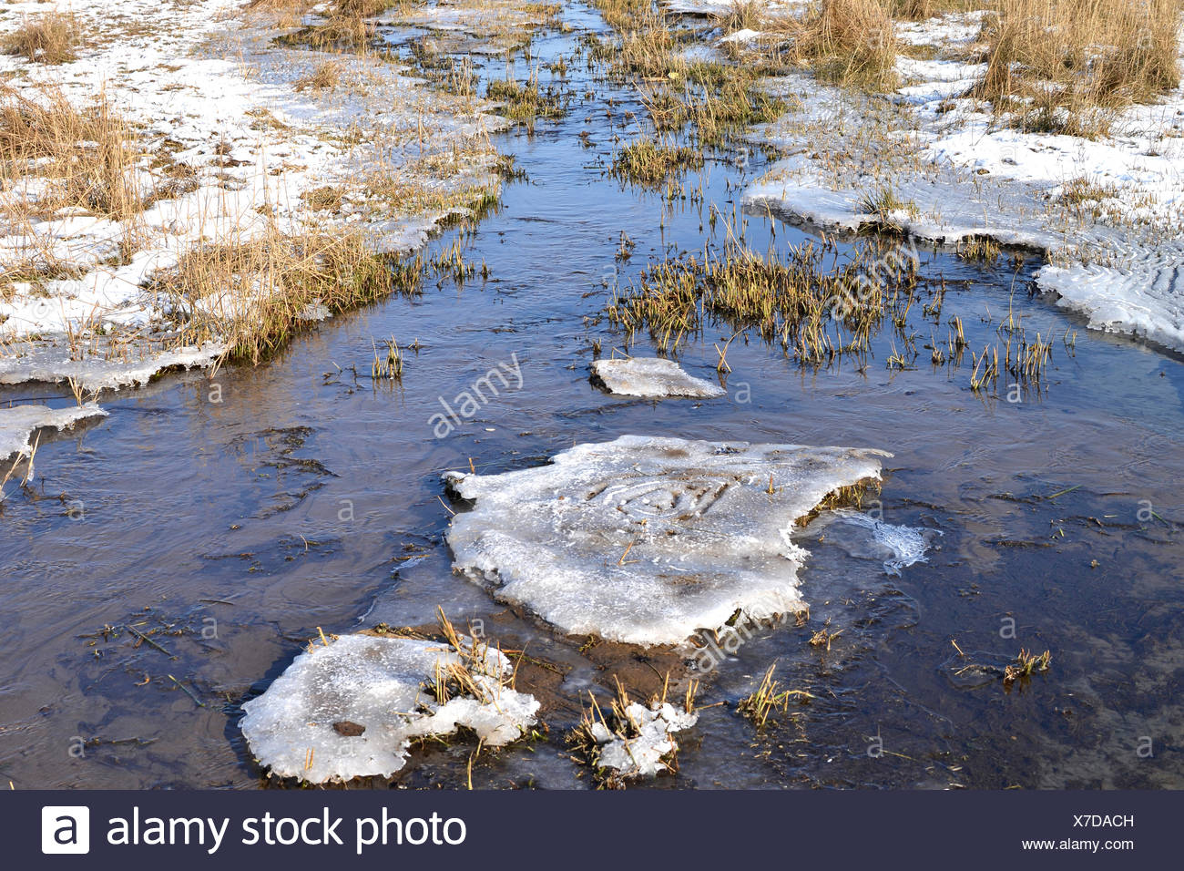 Froze runnel. - Stock Image