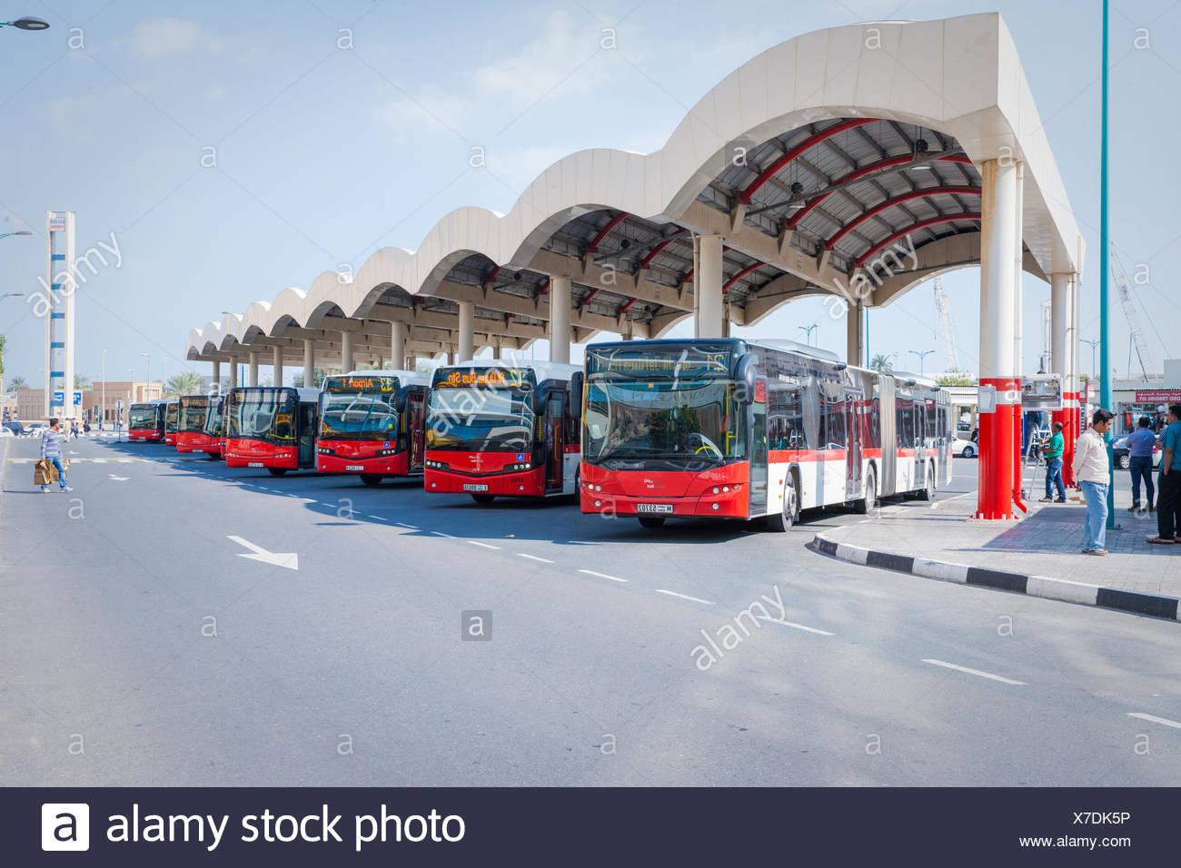 Al Ghubaiba Bus Stand Dubai Stock Photos Al Ghubaiba Bus Stand