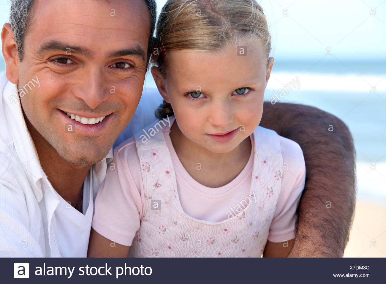 single parent daddy - Stock Image