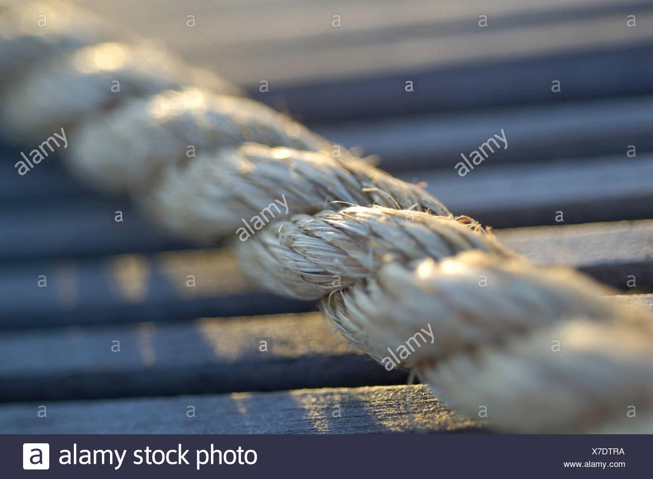 Sailing rope, close-up - Stock Image