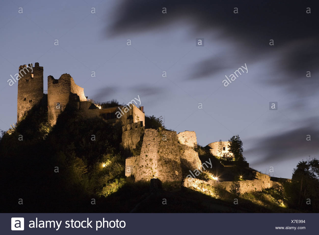 Austria, Carinthia, to grips, castle to grips, evening, - Stock Image