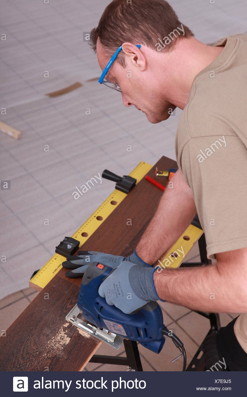 woodworker working - Stock Image