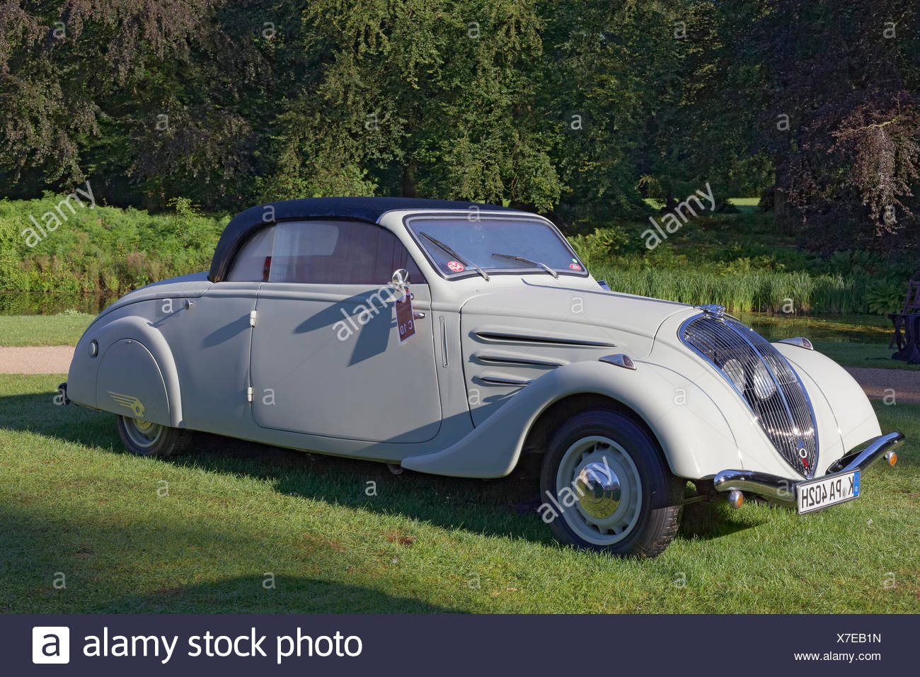 Peugeot 402 Eclipse, Cabriolet from 1940, classic French car, Schloss Dyck Classic Days 2016 Jüchen, Niederrhein - Stock Image