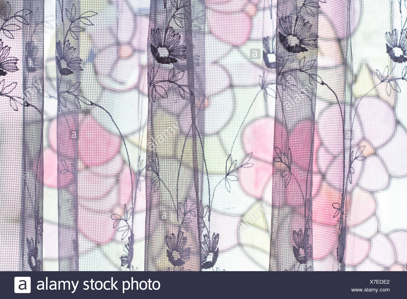 curtain, home - Stock Image