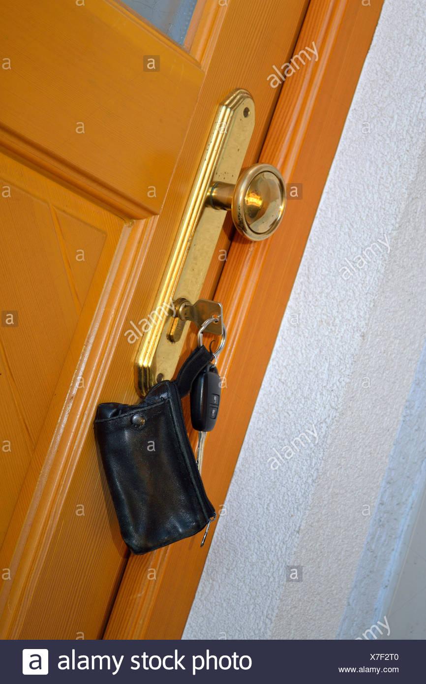 Front Door Key Is Inserted