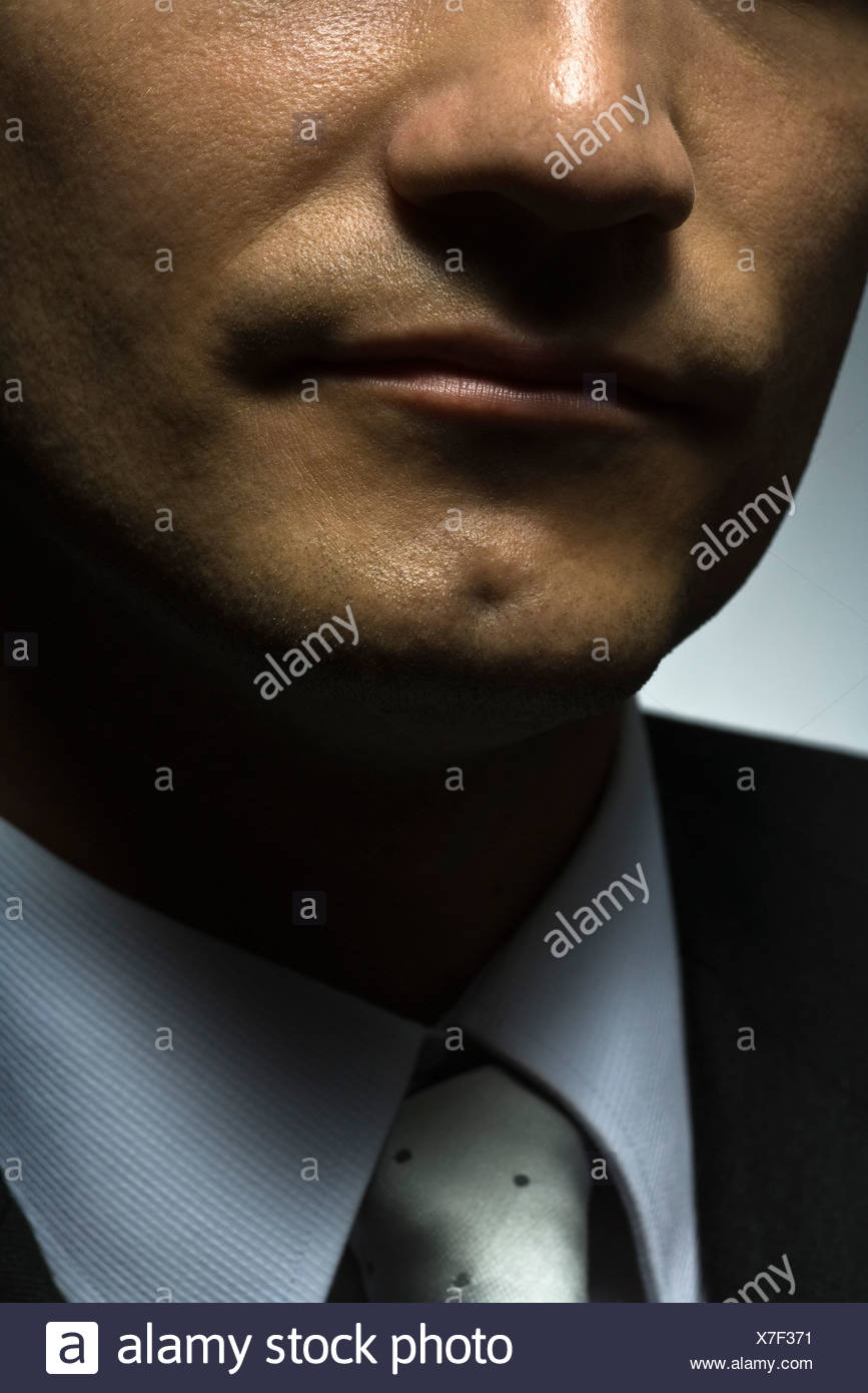 Man, cropped portrait - Stock Image