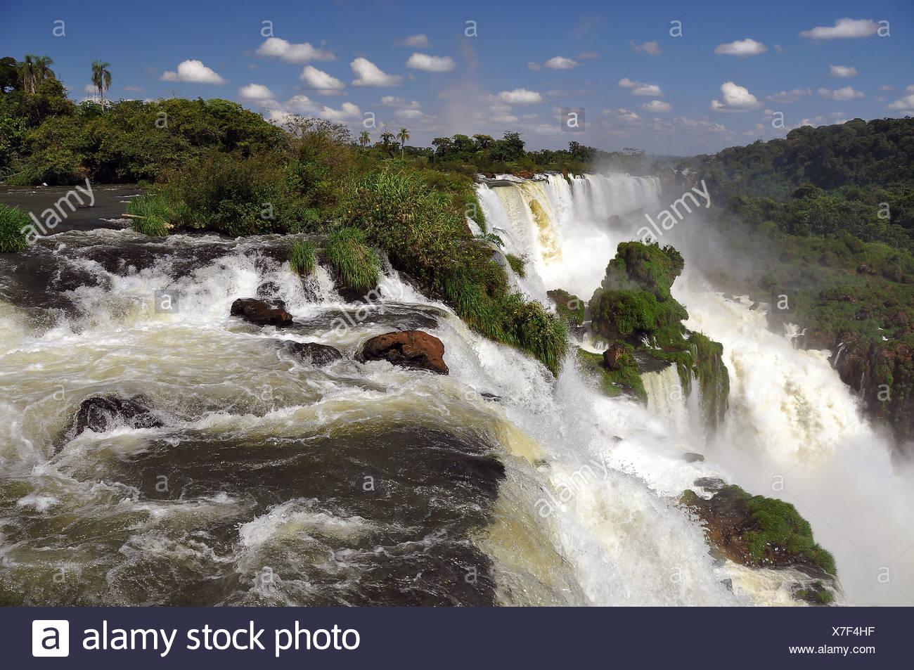 Cataratas del Iguazu, Iguazu Falls, Puerto Iguazu, Argentina - Brazil border, South America - Stock Image