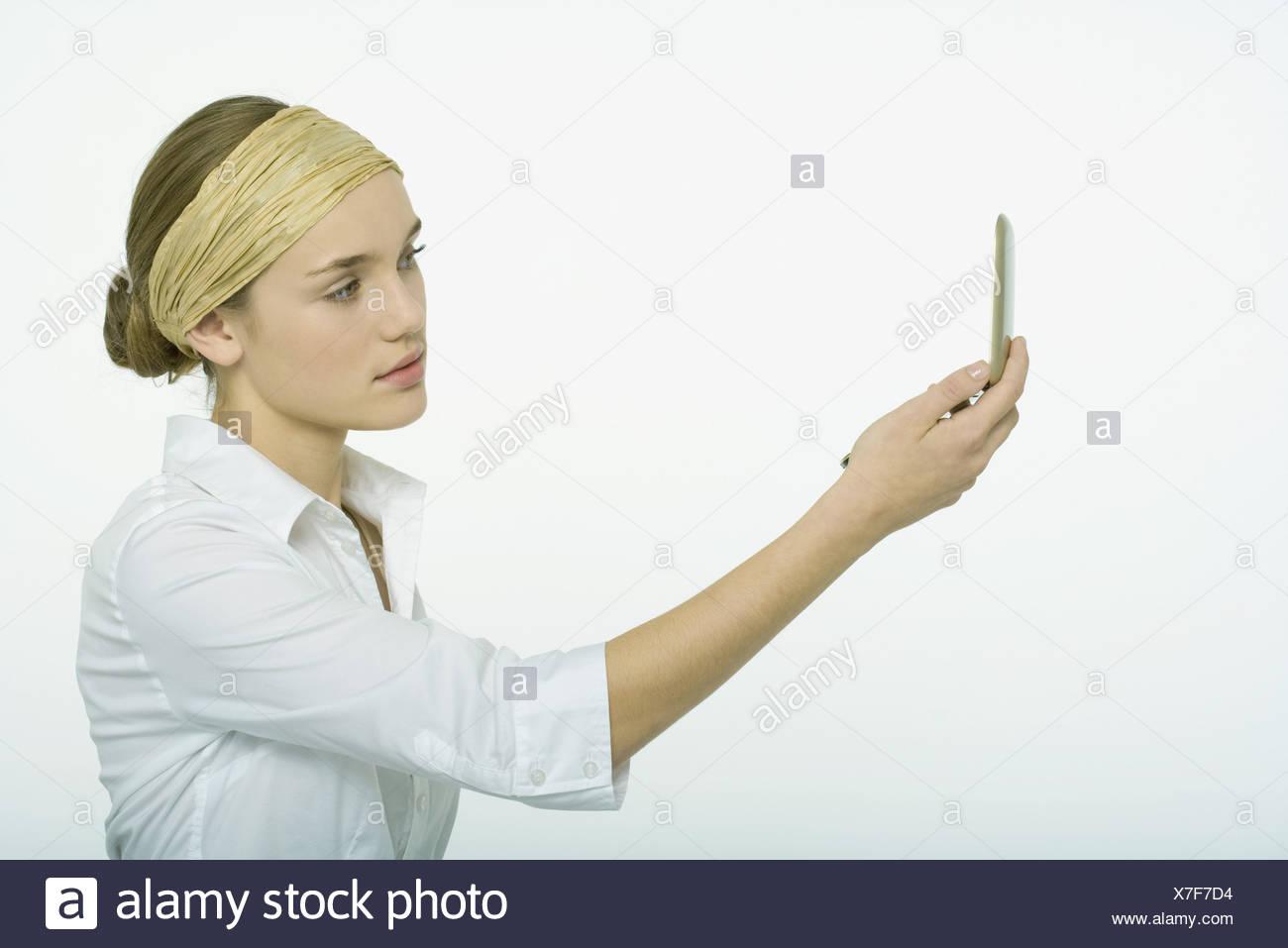 busty teen self shot mirror