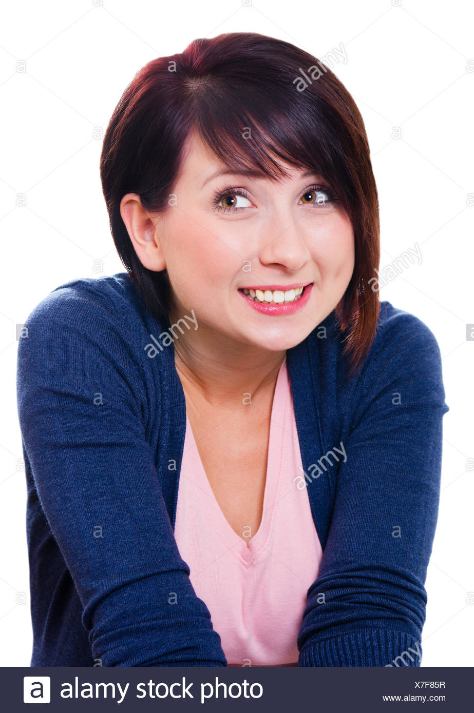 shy young woman Stock Photo