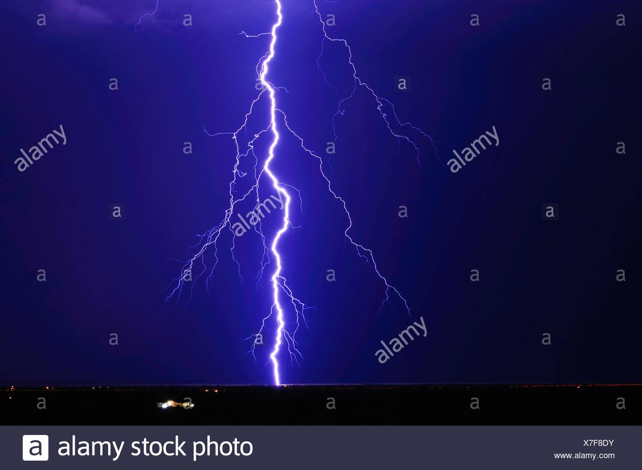 Lightning over Tonopah, Arizona, United States Stock Photo