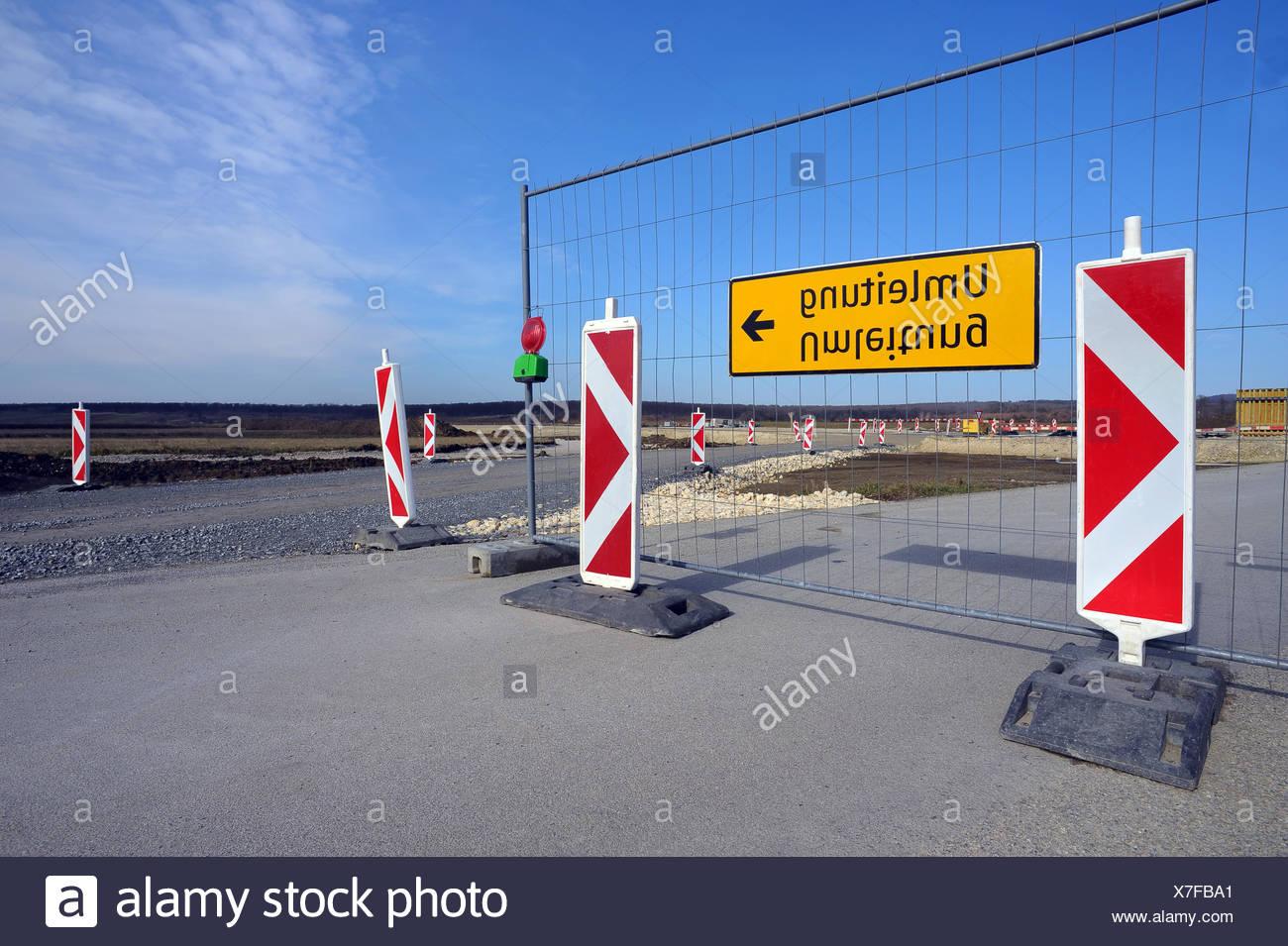 Roadblock and detour - Stock Image