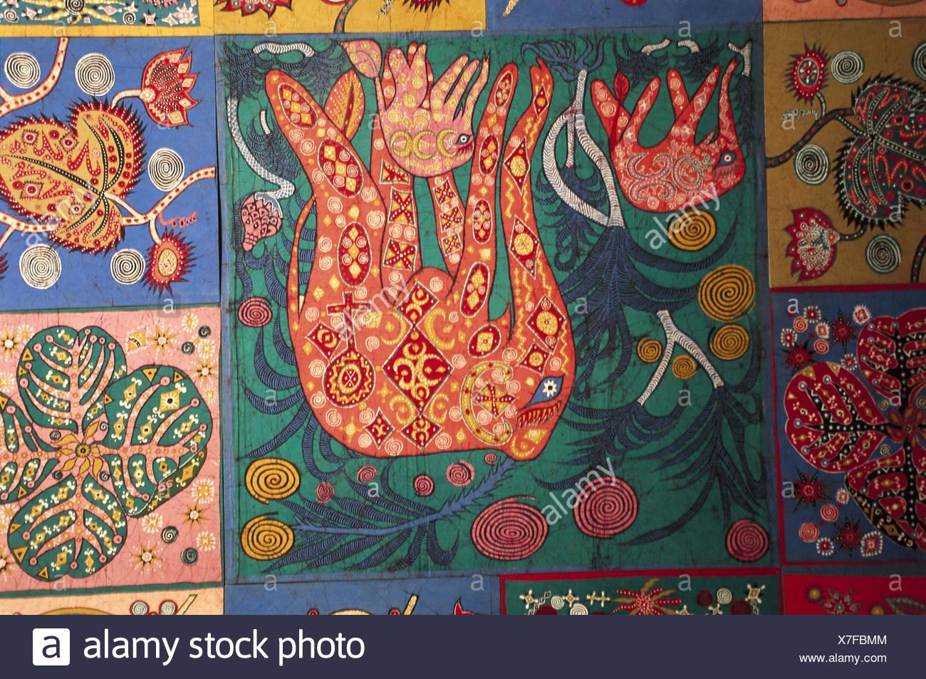 Sri Lanka Handicraft Substance Cloth Batik Work South Asia