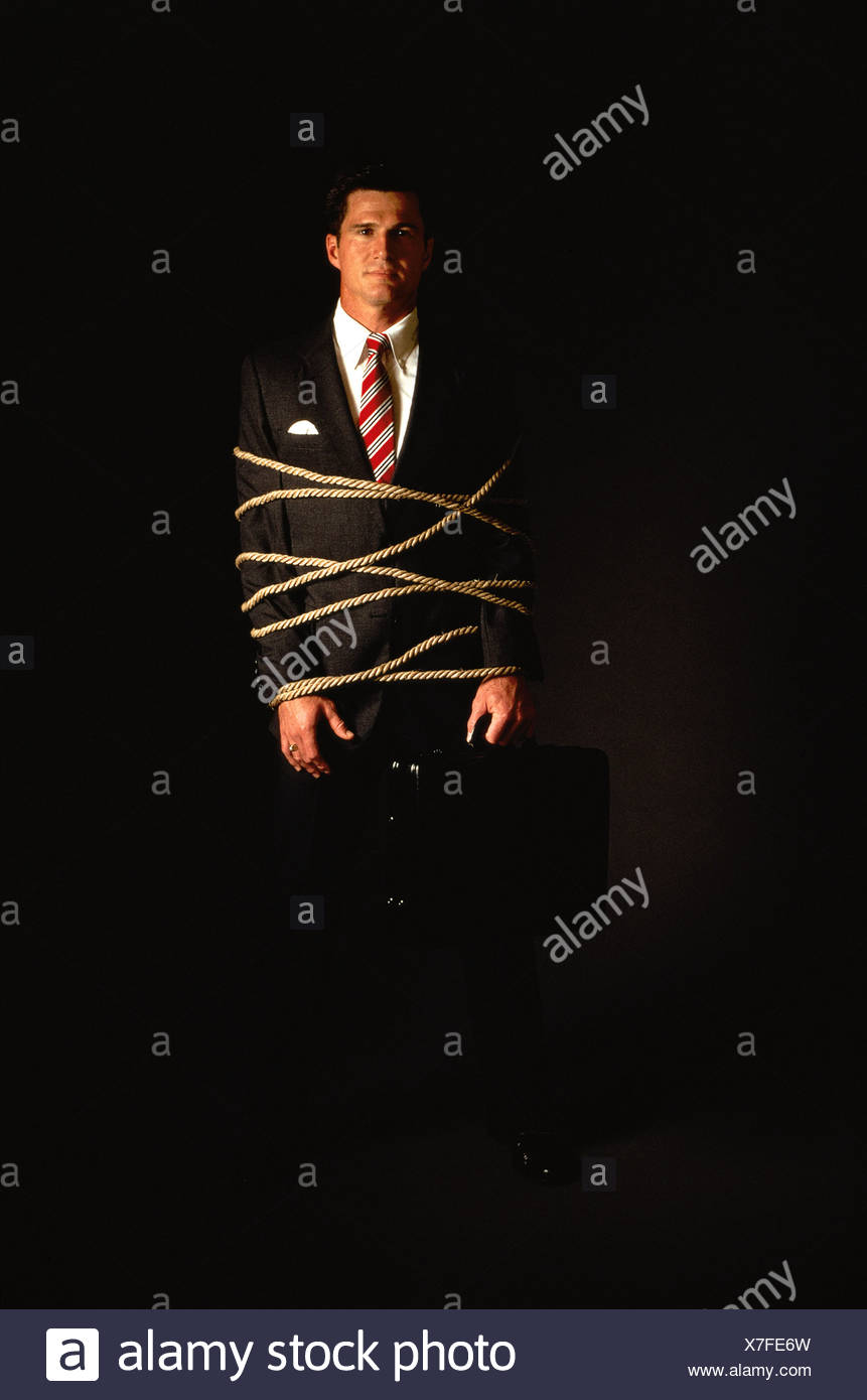 CONCEPT - BUSINESSMAN TIED-UP - Stock Image