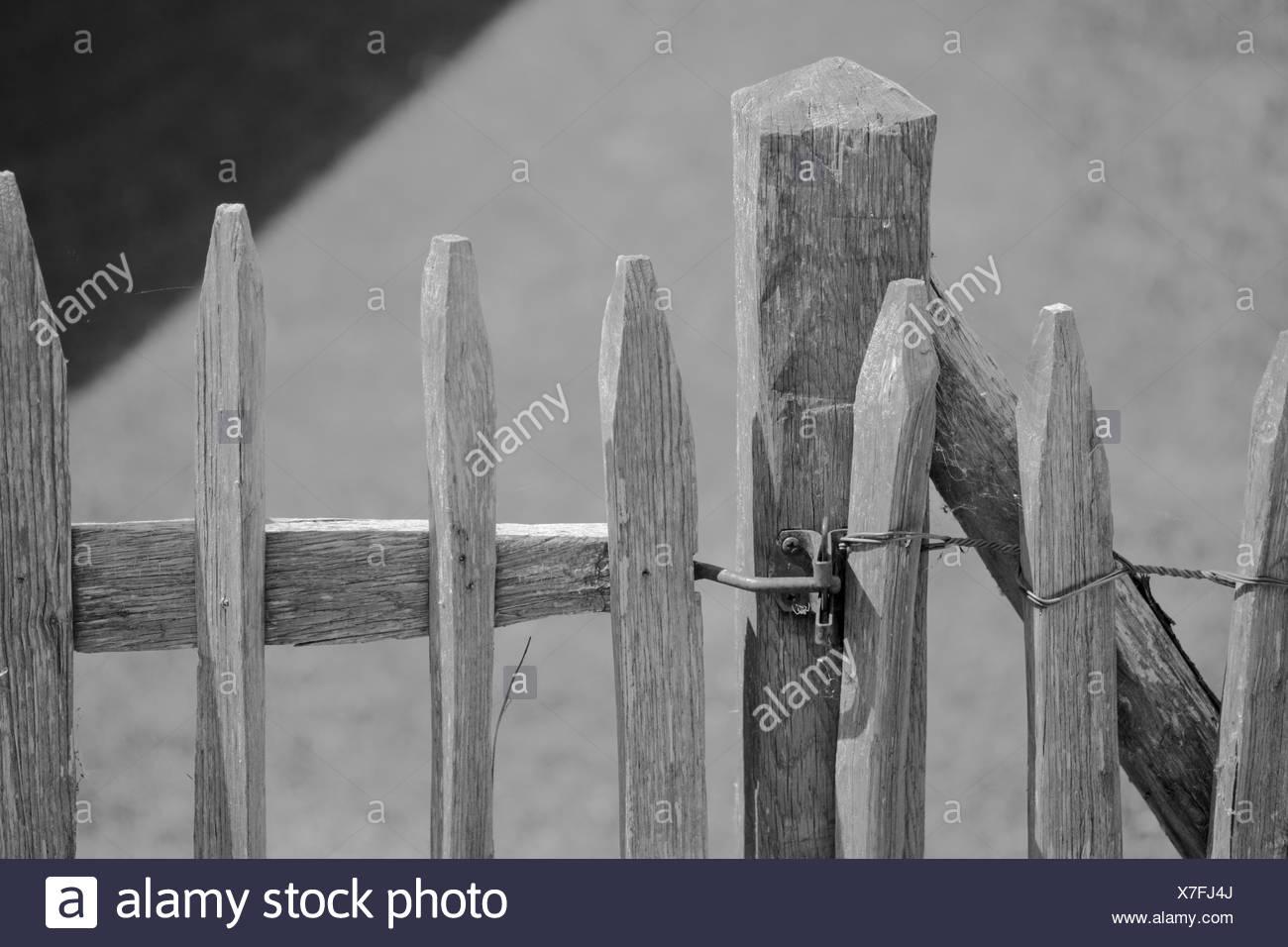 picket fence,chiemgau,bayern,germany - Stock Image