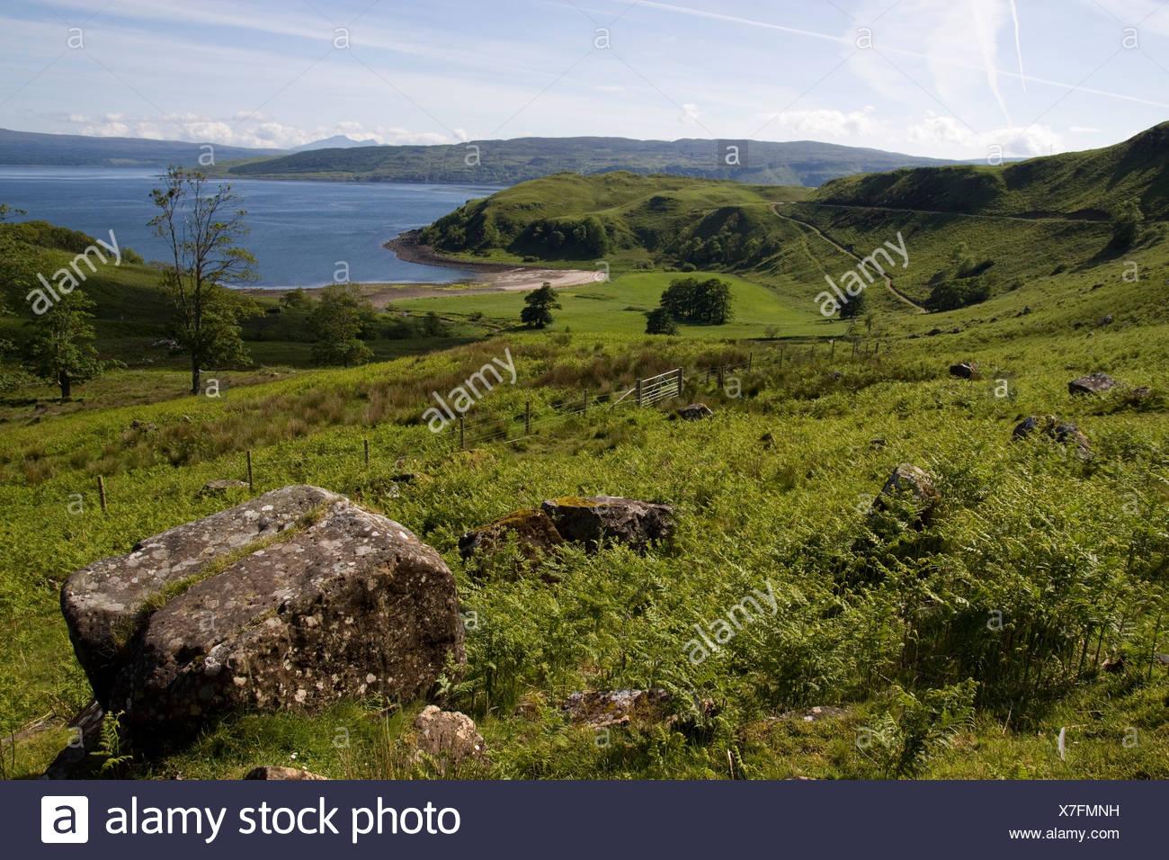 Scotland, Ardnamurchan, Salen Bay on Loch Sunart - Stock Image
