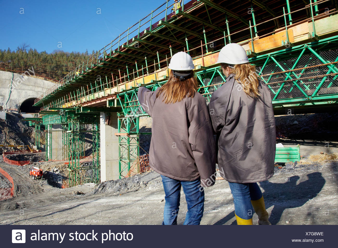 Architects, Construction of viaduct, Works of the new railway