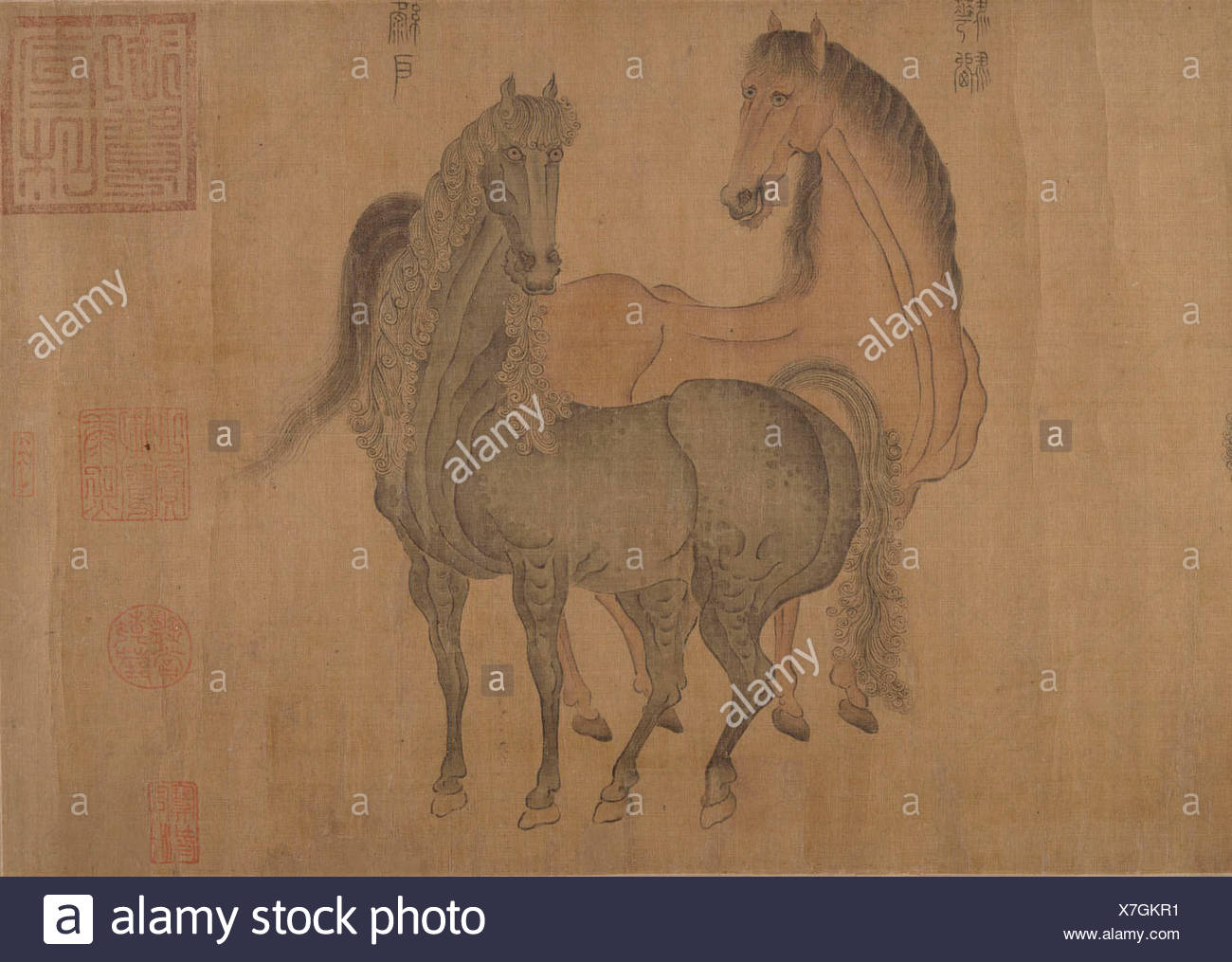 Chinese Ink Painting Horse High Resolution Stock Photography And Images Alamy