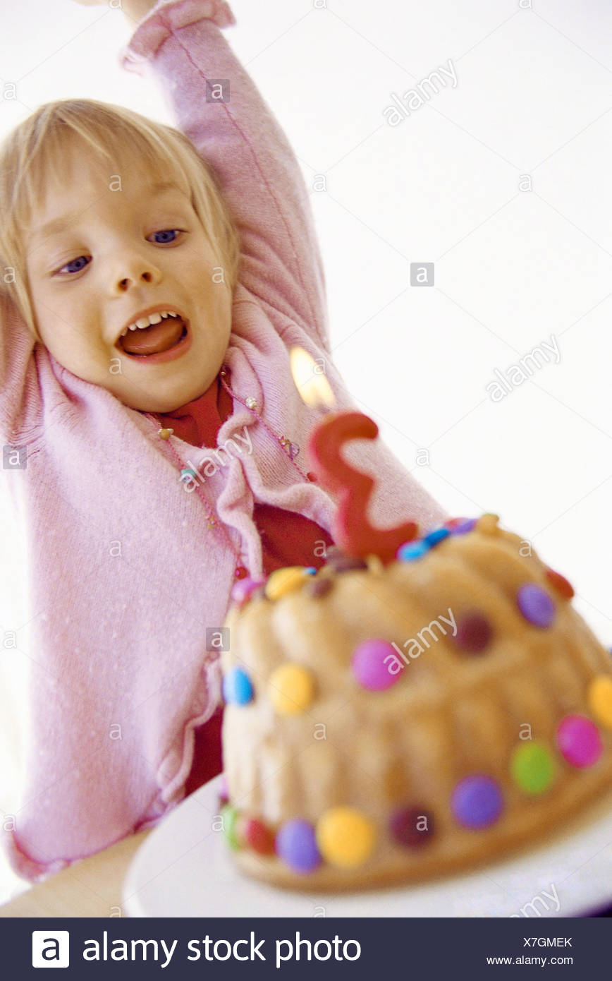 Girls Birthday Cakes Candle Portrait Series Child Toddler 3
