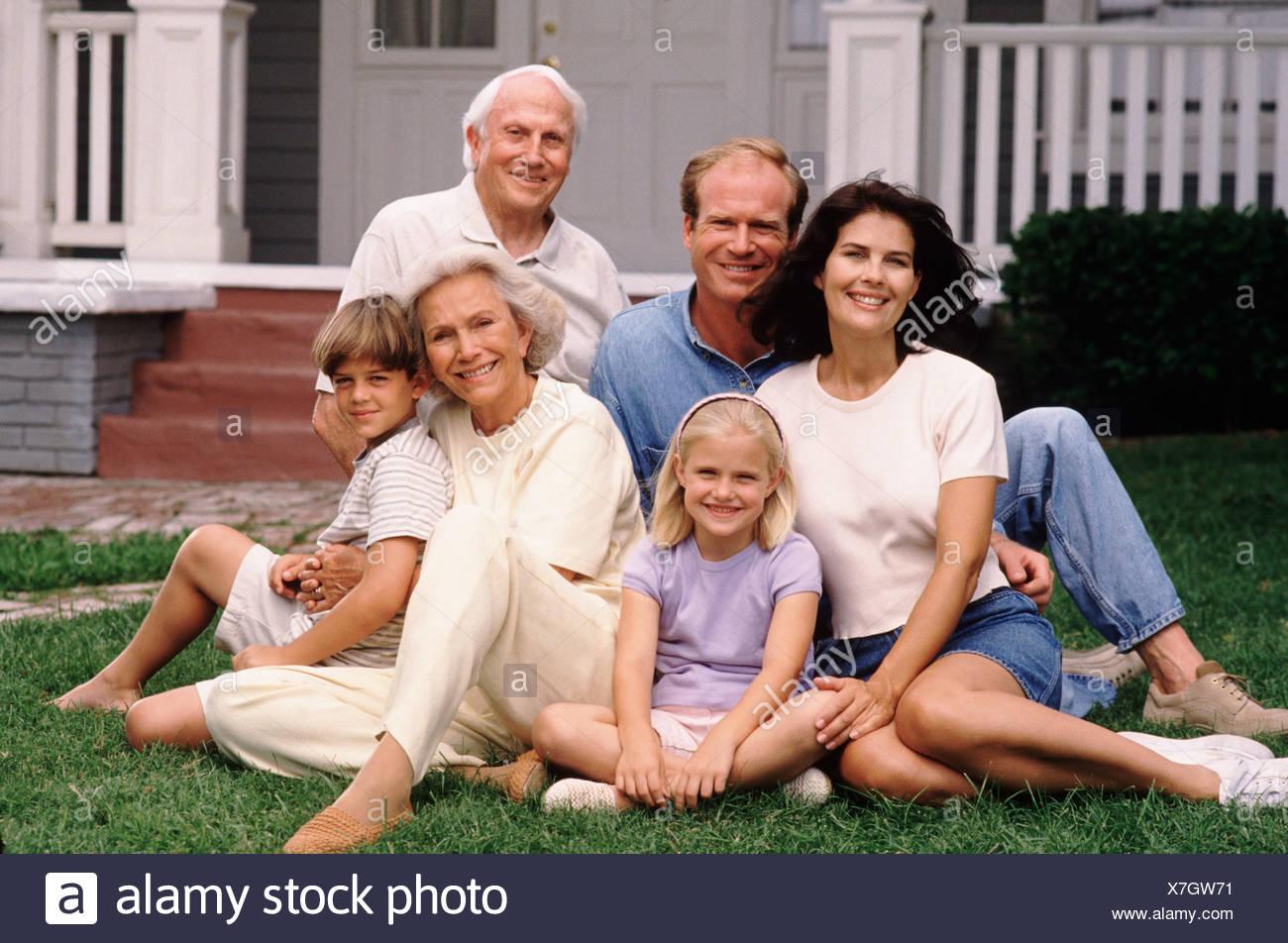 Family portrait - Stock Image